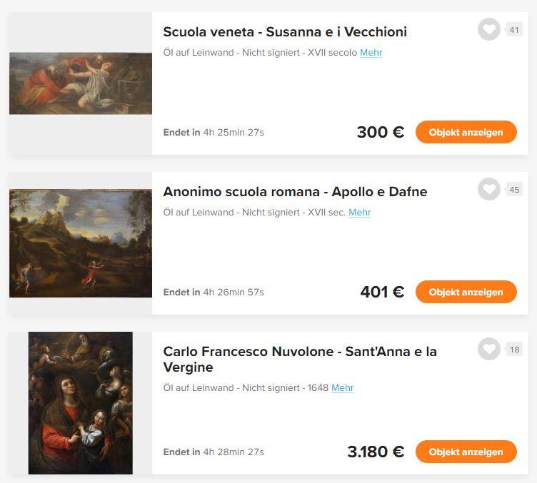 Auktionen bei Catawiki